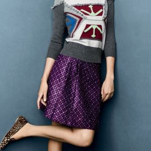 J. Crew Collection Festival Berry Tweed Skirt